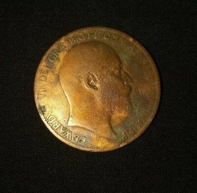 1902 Great Britain Penny English Large Cent King Edward VII