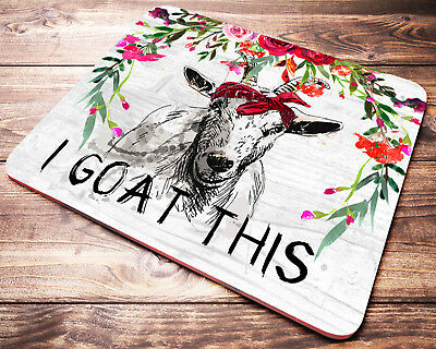 FUNNY Goat Mouse Pad I Goat This Farm Animals Office Desk Decor Accessories