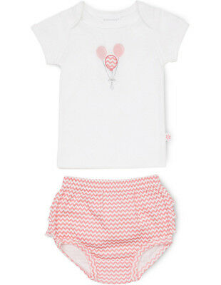 NEW Marquise T-Shirt And Frilled Bloomer Set - Balloon Pink