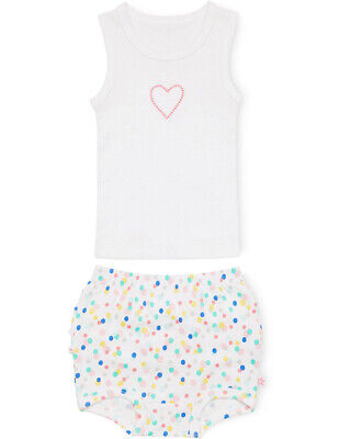NEW Marquise Singlet And Frilled Bloomer Set - Heart Assorted