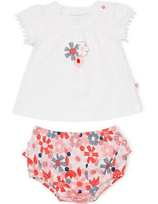 NEW Marquise Flower Dot Top And Bloomer Set White