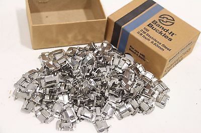 "Lot of (98) New Band-It 3/8"" Stainless Steel Banding Buckles C453 EDP 13453"