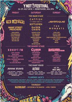 Y Not Festival VIP Tickets  3 Days July 2018      (Includes Camping and Parking)