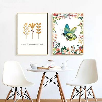 Abstract Plants Art Canvas Nordic Poster Modern Paint Wall Decor Unframed A265