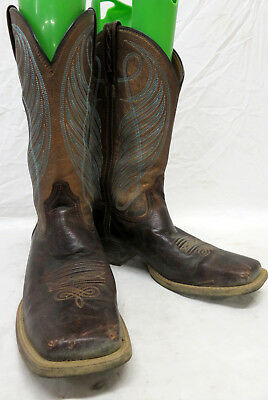 ed22a371e14 WOMEN'S ARIAT ROUND Up Wide Square Toe Brown Western Boots Size 10B