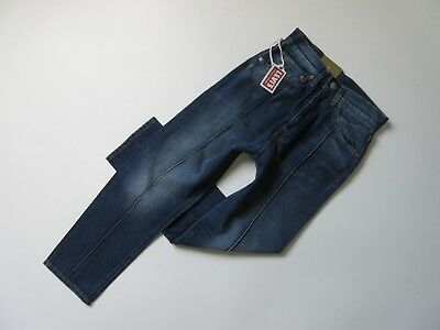 NWT Levi s Vintage 1950 s 701 in Blue Condition Pintuck Crop Selvedge Jeans  28 bba08575da8