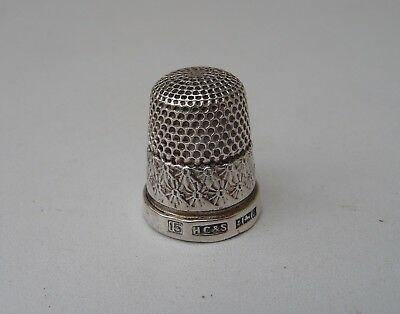 Old Solid Silver Thimble - Hallmarked Henry Griffith & Sons, Birmingham 1952