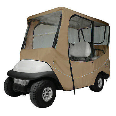 Classic Accessories Fairway Golf Cart Travel Enclosure  Khaki  Long Roof