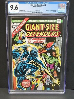 Marvel Comics Giant-Size Defenders #5 1975 Cgc 9.6 White Pages Gotg Appearance