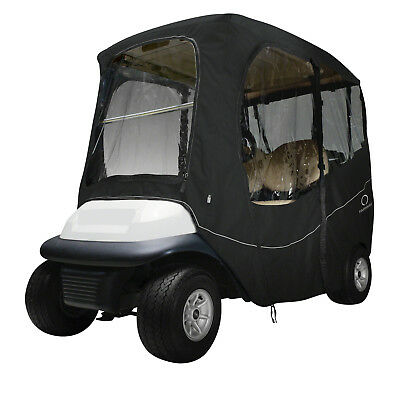 Classic Accessories Fairway Golf Cart Deluxe Enclosure  Black  Short Roof