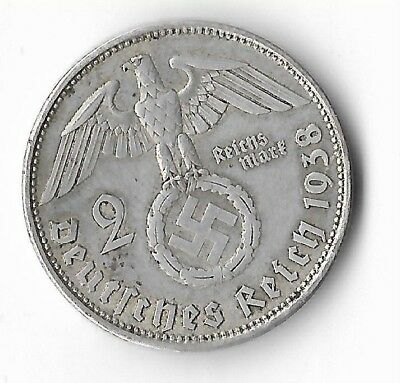 Rare Old Silver 1938 WWII VIENNA Germany Eagle Great War Vintage Collection Coin
