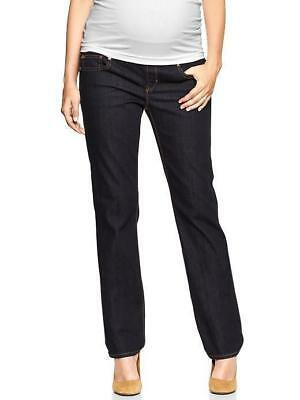 Nwt Gap 1969 Maternity Front Demi Panel Real Straight Dark Jeans 24 00 Reg