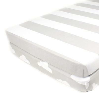 Pack N Play Playard Sheet Set - 2 Pack - Fitted, Soft Jersey Cotton Portable - &