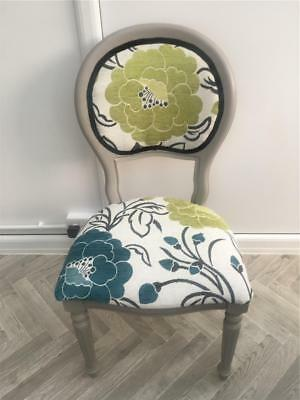 Shabby Chic Victorian Style Balloon Back French Boudoir Occasional Bedroom Chair