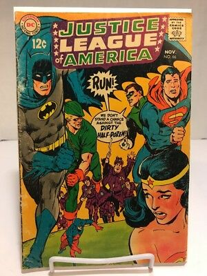 DC Comics 1968 Justice League Of America #66 VG+ Dirty Half Dozen Silver Age