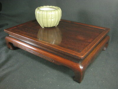 Japanese Vintage 90 Yr Old Taisho Era Black Rosewood  Ikebana Or Bonsai Stand