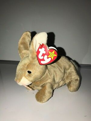 Nibbly-the-Rabbit-TY-BEANIE-BABY-MULTIPLE-ERRORS-Excellent-Condition