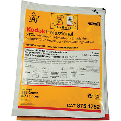 Kodak Xtol black & white film developer(power), to make 5 Litres pack