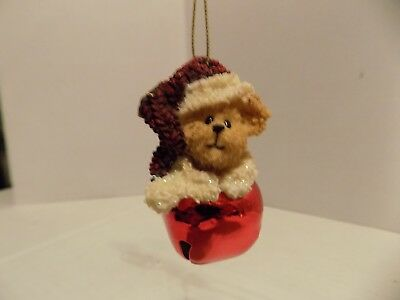 Boyds Bears JINGLE BELL Ornament The Bearstone Collection Red Bell
