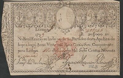 20000 Reis From Portugal 1826