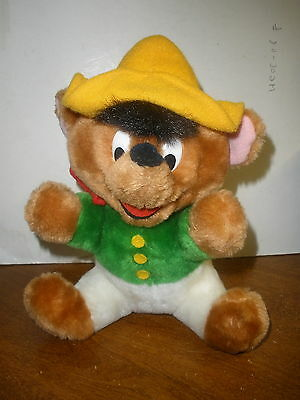 "Warner Bros Mighty Star Speedy Gonzales Plush 9"" very clean"