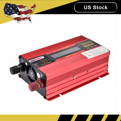 3000W Car LED Power Inverter WATT DC 12V/24V to AC 110V Dual Charger Converter