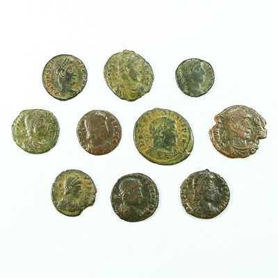 Ten (10) Nicer Ancient Roman Coins c. 100 - 375 A.D. Exact Lot Shown rm2915