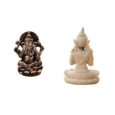 The Elephant God Buddha Statue Sandstone Meditation Buddha Statue Figurines