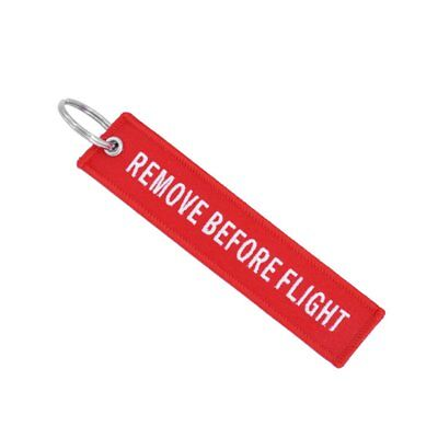 Key Ring Remove Before Flight Llavero Bolso Luggage Tag Llavero Bordado SG