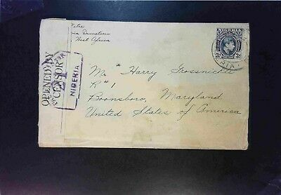 Nigeria 1941 Censored Cover to USA - Z1698