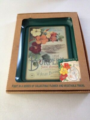 Vintage Burpee's Steel tray, still in original package 1997