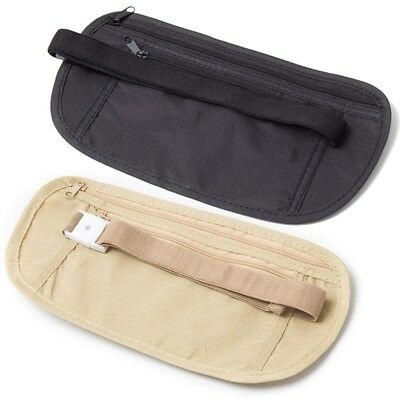 Hidden Wallet Passport Money Waist Belt Bag Travel Pouch Slim Secret Security