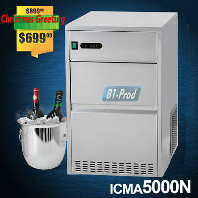 Auto Commercial Ice Maker Bullet Shaped Cube Machine Stainless Steel Bar 90lbs