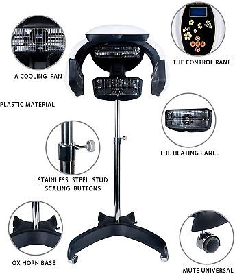 climazone infrared hair dryer stand up processor timer temp perm