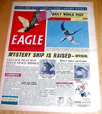 Eagle  Vol6  #33 19/8/1955 With  Atomic Powered Bomber Stunning Cutaway Drawing