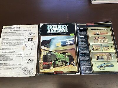 Hornby Railways 28th Edition 1982 Cat. 00 Scale. Plus other mag and paper. Tatty