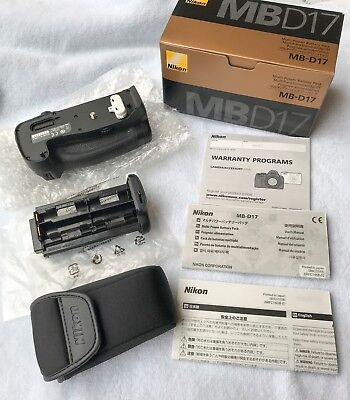 New In Box genuine Nikon MB-D17 battery holder/grip for D500