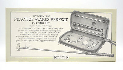 Restoration Hardware 'Practice Makes Perfect' Putting Set Golf Putter Travel