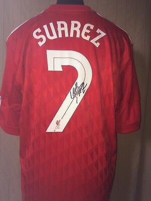 b304b6e453fce LIVERPOOL NUMBER 7 Shirt Signed By Luis Suarez With Letter Of Guarantee