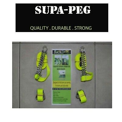 2 x NEW SUPAPEG Caravan awning storm tie down straps - Roll out awnings ASTD
