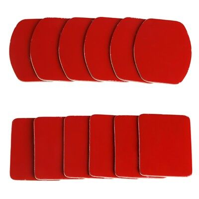 12pcs 3M Adhesive Flat Curved Helmet Mount Pads For Gopro HD Hero 1 2 3 3+