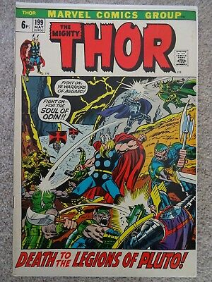 THOR Vol. 1  # 199 May 1972 (Very Fine-/Fine+)