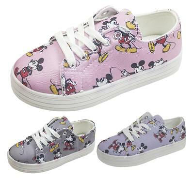 Childrens Disney Mickey Mouse Character Pumps Trainers UK Shoe Sizes 10 to 2.5