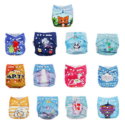 Washable Cloth Nappy Baby Diaper Bag Diapers Cloth Cover Wrap Reusable