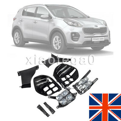 New Pair LED Fog Light for Kia Sportage QL IV W/ Front Lamp Bezel  for 2016 2017