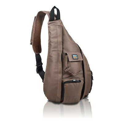 Crossbody - Over Shoulder Backpack – Compact Sling Bag for Men & Women Brown