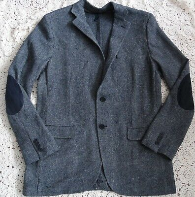 Men's Navy Blue  Unstructured Cotton Blend Sports Coat Blazer Size 40R (NWOT)