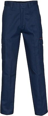 DNC Workwear Midweight Cotton Twill Angled Cargo Pockets Work Pants Stout Size