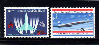 New Hebrides, British #130-131  1968  Concorde Jet Airplane  Mint  Vf Nh  O.g