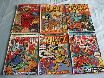 Fantastic Four - 12 Bronze Age +1 Sliver Age low grade some with coupons clipped